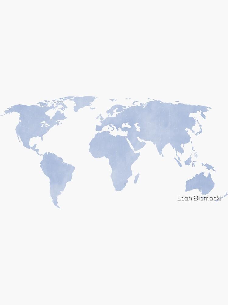 Distressed Serenity Blue Weltkarte von adventureliela