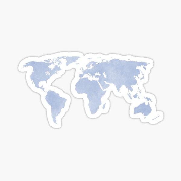 Carte du monde bleu sérénité en détresse Sticker