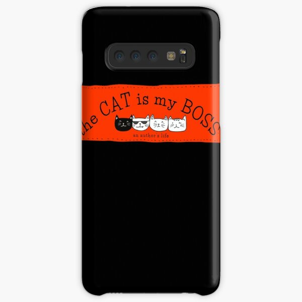 The CAT is my BOSS — an author's life! (red) Samsung Galaxy Snap Case