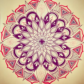 Hand Drawn Mandala Print by AntoinetteAdams