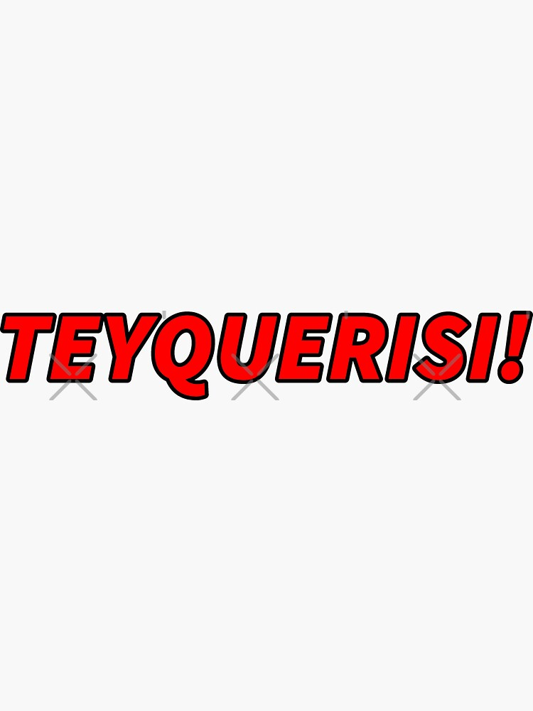 TEYQUERISI! red letters by that5280lady