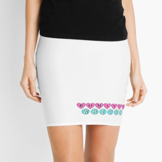 Romance Writer (white) Mini Skirt