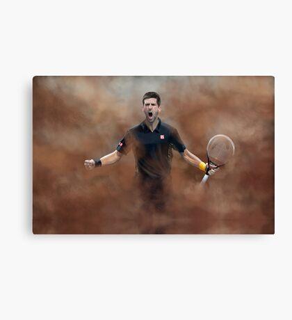 Novak Celebration Canvas Print