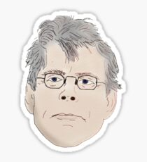 Stephen King Head Sticker Sticker