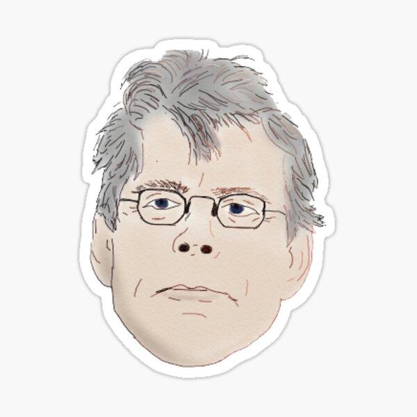 Stephen King Head Sticker Sticker
