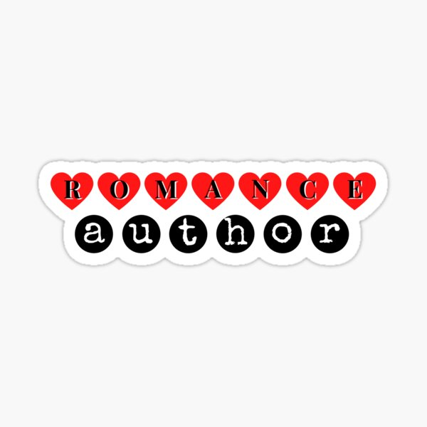 The perfect shirt for the Romance  Author (black) Sticker