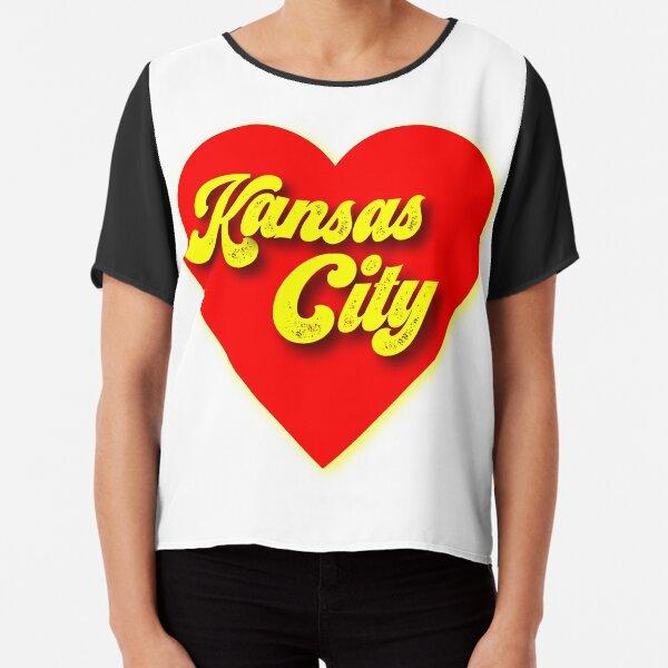Kansas City Love Design Chiffon Top