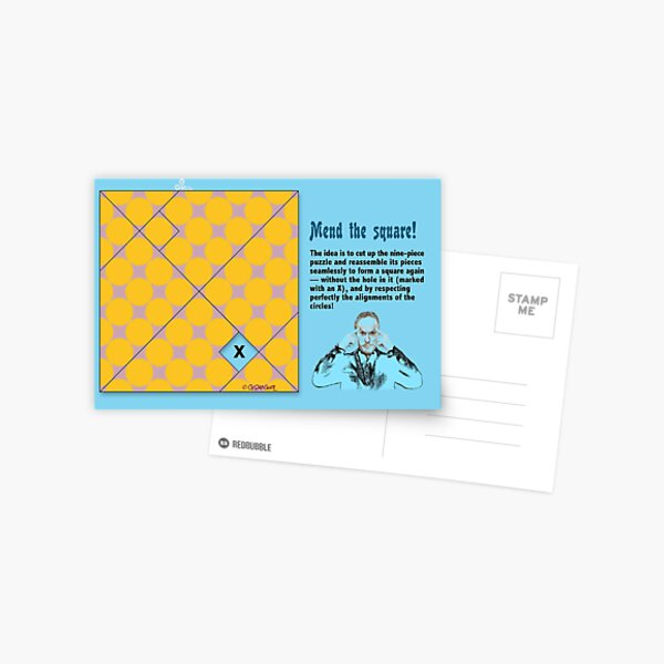Mend the Square! Postcard