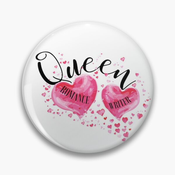 The QUEEN OF HEARTS is a ROMANCE WRITER! (white) Pin