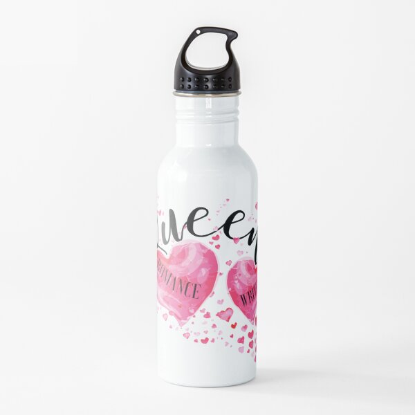 The QUEEN OF HEARTS is a ROMANCE WRITER! (white) Water Bottle