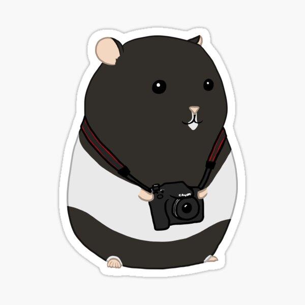 Hamster Photographer Sticker