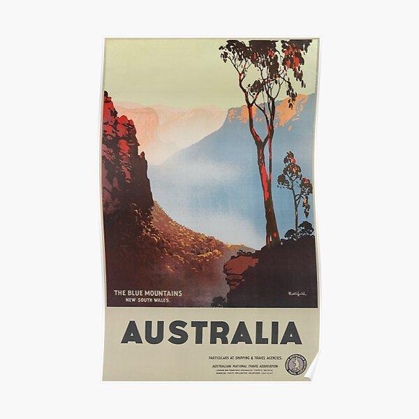 Vintage Australia Blue Mountains poster Poster