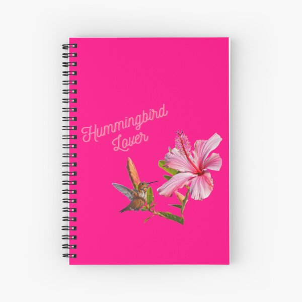 Hummingbird Lover #5 In The Pink By Concetta Ellis Spiral Notebook