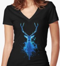 Magic Deer Women's Fitted V-Neck T-Shirt