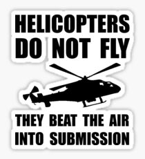 Helicopter Submission Sticker