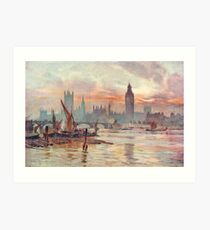 Westminster at Dusk in 1891  Art Print