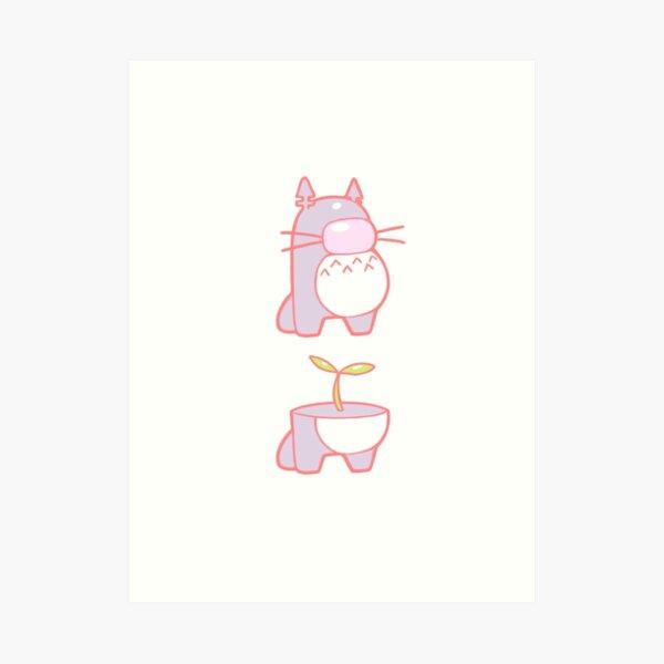 Totoro - Astronauta Lámina artística