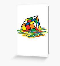 Rubik cube art Greeting Card