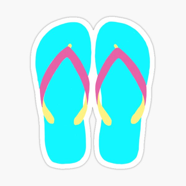 Colorful Chanclas Teal and Gray Floral Abstract Flip-Flops Beach Thongs