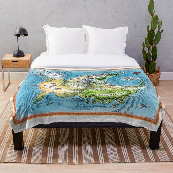 WOF Maps Throw Blanket
