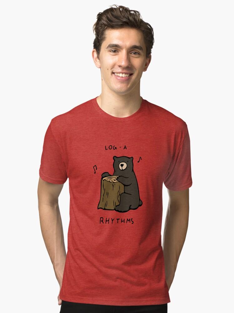 Alternate view of Log-a-Rhythms Tri-blend T-Shirt
