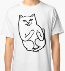 Middle Finger Cat Classic T-Shirt