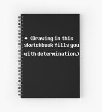 Undertale Determination Sketchbook Spiral Notebook