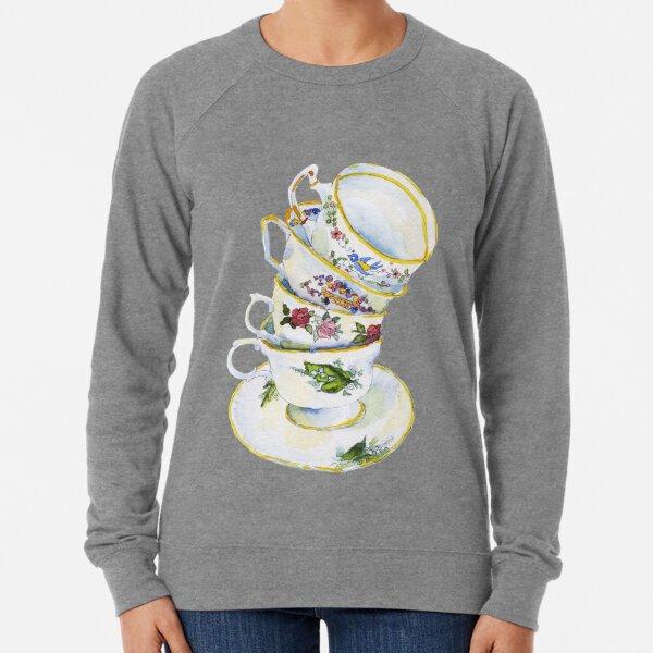 Great Grandma's Teacups Lightweight Sweatshirt