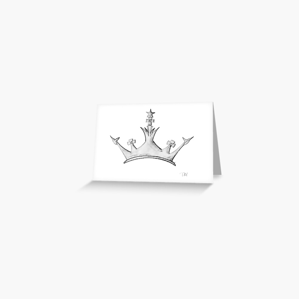 Queens crown watercolor queen empress princess crown design greeting card by torchandbrush redbubble