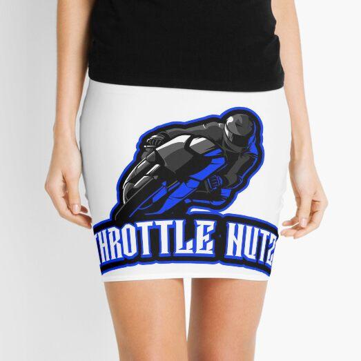 Throttle Nutz Grey And Blue Sport Bike Racer Mini Skirt