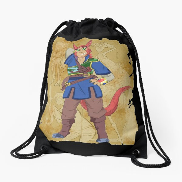 Captain Atticus Title Drawstring Bag