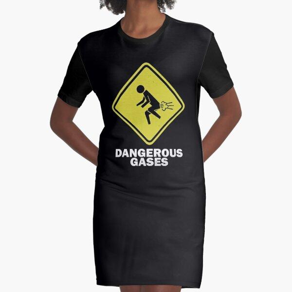 Dangerous Gases - Fart Graphic T-Shirt Dress