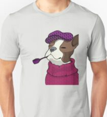 Tough Boston Terrier Girl Unisex T-Shirt
