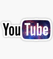 Cosmic YouTube Logo Sticker