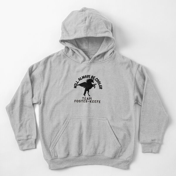 keeper of the lost cities kids - team foster keefe Kids Pullover Hoodie