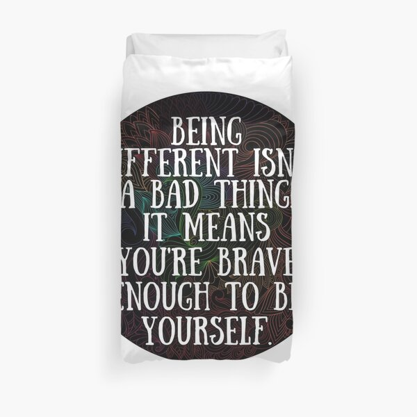 Being Different Luna Lovegood Quote Duvet Cover
