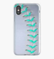 Light Blue Stiches Softball / Baseball iPhone Case/Skin