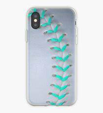 Light Blue Stiches Softball / Baseball iPhone Case