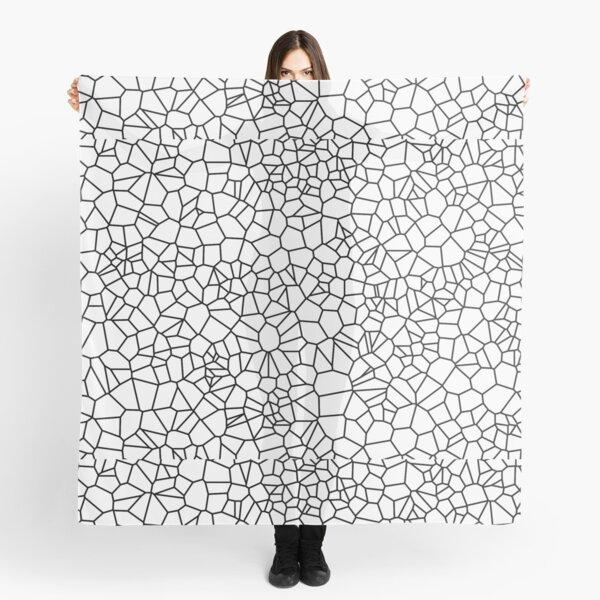 Voronoi: Black on White Scarf