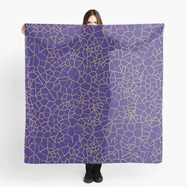 Voronoi: Gold on Blue Scarf
