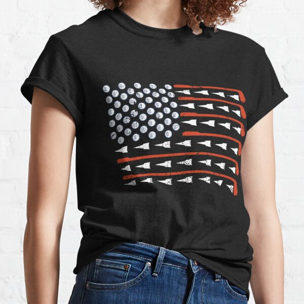 American Flag Golf Funny Golf TTA Classic T-Shirt