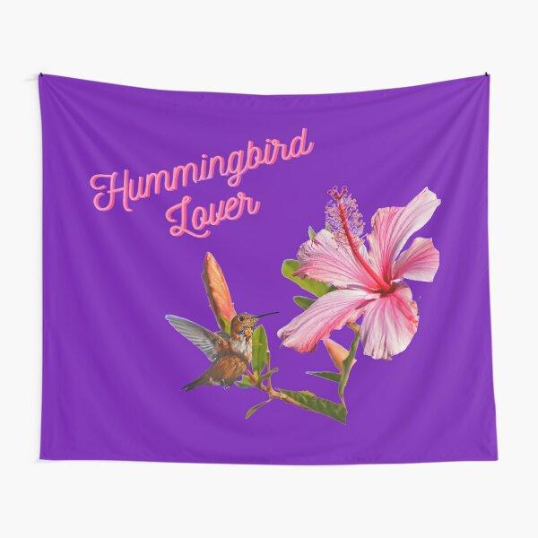Hummingbird Lover In Purple By Concetta Ellis Tapestry