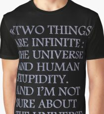 Albert Einstein Quote Graphic T-Shirt