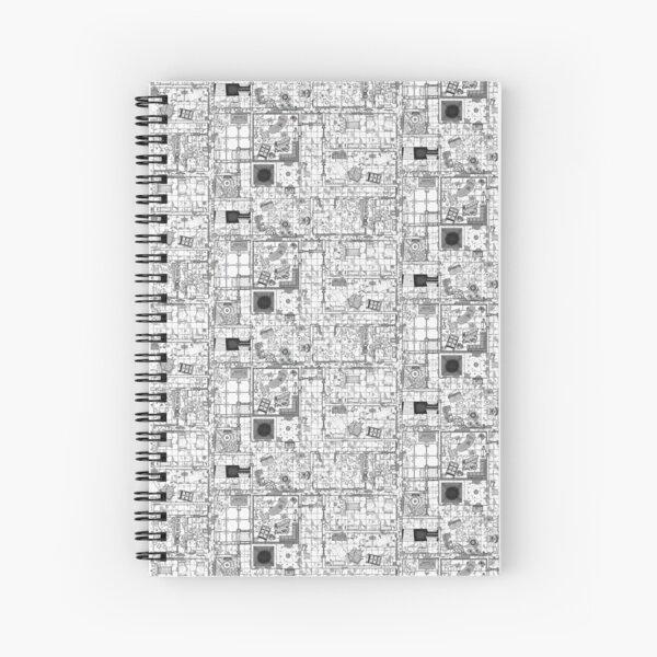 Lineart Map - Horror Hospital 2 Spiral Notebook