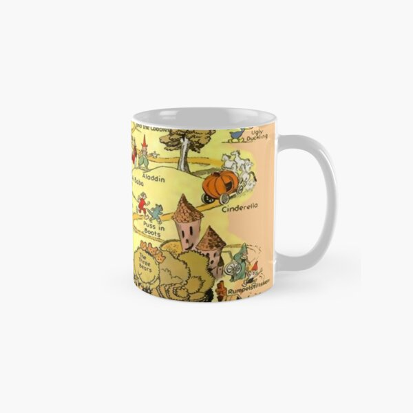 Brothers Grimm Map of the Fairy Tale Lands Folktale Stories Classic Mug