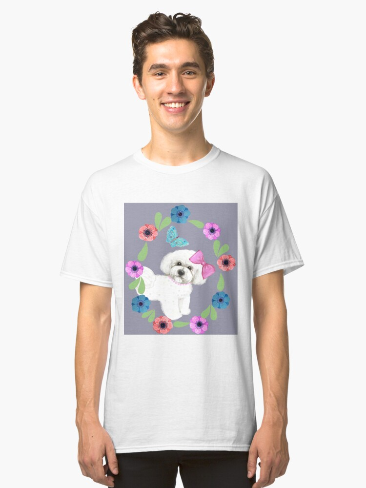 Alternate view of Bichon Frise and Butterflies Classic T-Shirt