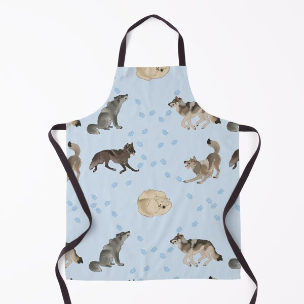 Wolves Doing Wolf Things Apron