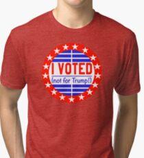 Camiseta de tejido mixto I VOTED! (not for Trump!)