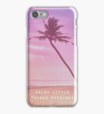 Enjoy little things everyday iPhone Case/Skin