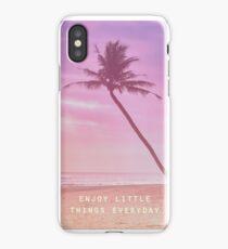 Enjoy little things everyday iPhone Case/Skin